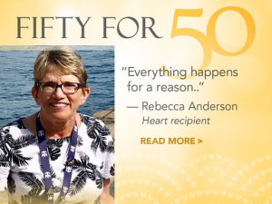 A donated heart gave Rebecca Anderson a second chance at life.