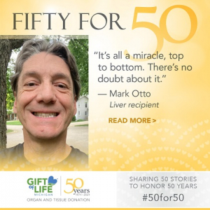 Mark Otto is celebrating 20 years with a donated liver.