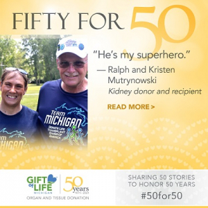 Ralph Mutrynowski donated a kidney to his daughter, Kristen, about 7 years ago.