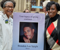 Brandon Spight was recognized for his generosity as an organ donor