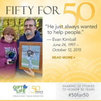 Evan Kimball saved five lives through organ donation and his parents, Lydia and Ward, are building on his legacy.