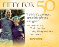 Todd Luchies donated a kidney to his wife, Heather.