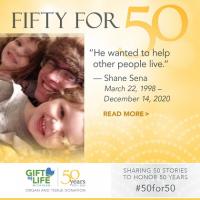 Shane Sena saved five lives by donating his organs.