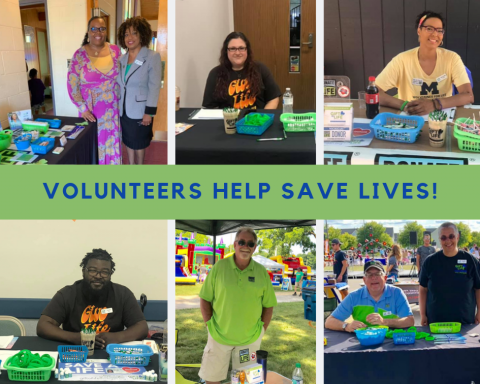 photo collage of volunteers in the community