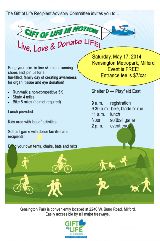 Gift of Life in Motion - 2014 flyer