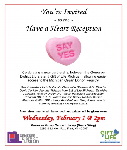 Have a Heart Reception Invitation in JPG format