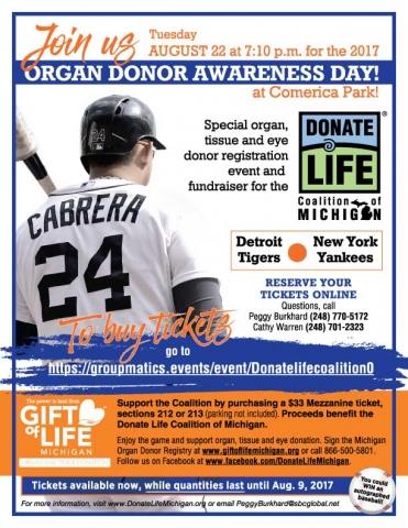 Detroit Tigers Donate Life