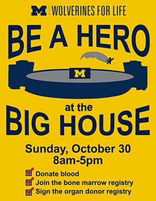 Be a Hero at the Big House flyer