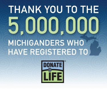 5 million people signed up to donate life