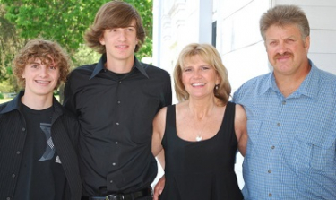Alex-Michael Springer with his brother, Skyler, father, Ken and mother, Mary.