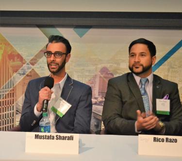 Let's Talk kickoff event panelists Mustafa Sharafi and Rico Razo