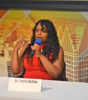 Let's Talk kickoff event panelist Dr. Terra DeFoe