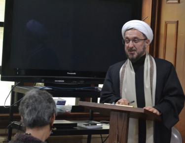 Imam Ibrahim Kazerooni from the Islamic Center of America in Dearborn