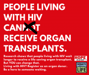 People living with HIV can receive organ transplants