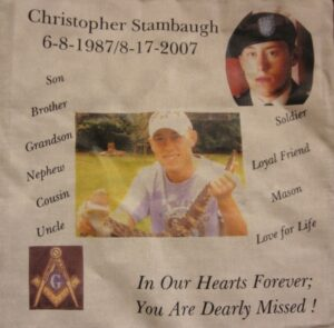 Chris Stambaugh, in our hearts forever, you are dearly missed.