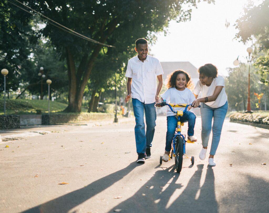 Happy Family on a Walk