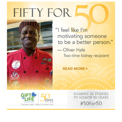 African American man in red chef uniform