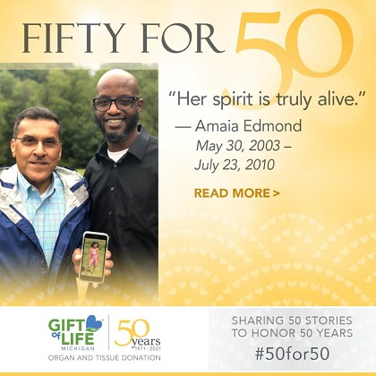 50 fo fifty, Her spirit is truly alive
