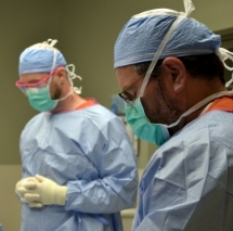 Doctors observing moment of silence