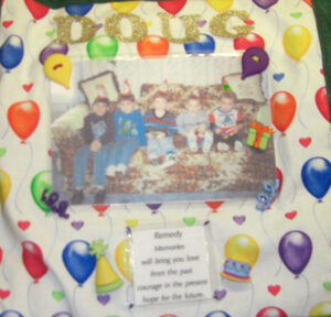 Douglas Woodruff, Kid pictures on a party balloon background