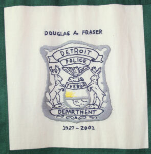 Douglas Fraser, Detroit Police Department Badge embroidery