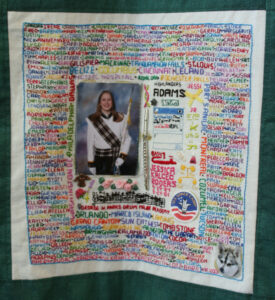 Jessica Rogers, in a collage of words she likes