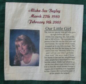 Alisha Begley, Our little girl