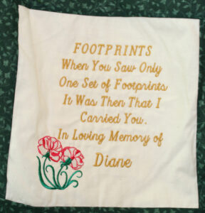 Diane, Footprints Poem