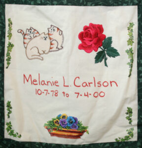 Melanie Carlson, October 1978 - July 2000