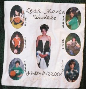 Leah Marie Woodside, August 1988 - November 2001