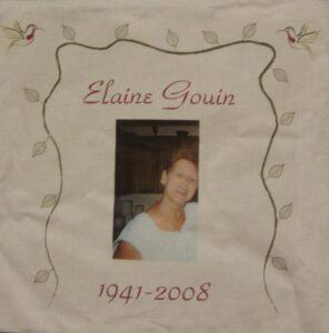 Elaine Gouin, 1941 - 2008