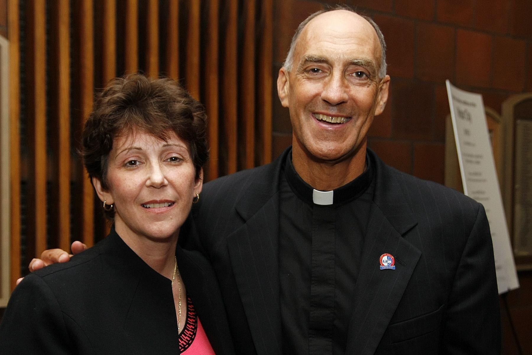 Liver transplant recipient with priest