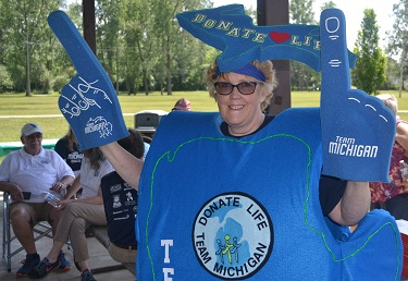 Team Michigan celebrated the start of the Transplant Games of America.
